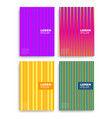 set of abstract cards with layers overlap vector image vector image