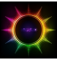 Shining rainbow lights abstract sun frame vector image vector image