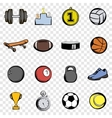 Sports set icons vector image vector image