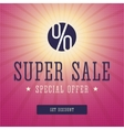 Super sale banner advert vector image vector image