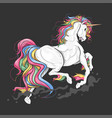 unicorn full colour rainbow vector image vector image