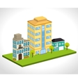 Urban city and real estate design vector image