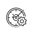 watch and gear - line design single isolated icon vector image vector image