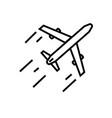 aeroplane icon vector image