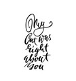 my cat was right about you hand drawn dry brush vector image