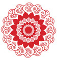 Indian henna tatto inspired flower shape with vector image