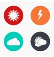 modern weather colorful icons set vector image