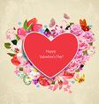 romantic invitation card valentines day beautiful vector image