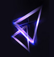 abstract 3d background with neon triangles and vector image vector image
