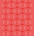 abstract circles pattern red background vector image