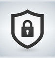 abstract security icon isolated on black vector image vector image