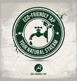 alternative eco tap stamp vector image