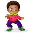 an african boy characters vector image