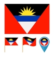 Antigua and Barbudacountry flag vector image vector image