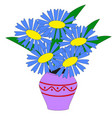 beautiful flower arrangement vector image vector image