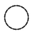 bike chain circle frame on a white background vector image vector image