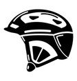 bike helmet icon simple black style vector image vector image