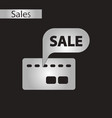 black and white style icon bank card sale vector image vector image