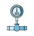 blue shading silhouette of water meter vector image vector image