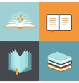 book signs and symbols - education concepts vector image vector image