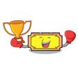 boxing winner ticket mascot cartoon style vector image