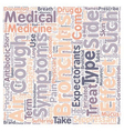 bronchitis medicine text background wordcloud vector image vector image