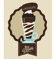 Chcolate design vector image vector image