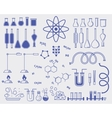 chemistry subjects vector image vector image