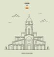 church san pedro in gijon spain vector image vector image