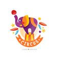 circus show logo design carnival festive show vector image vector image