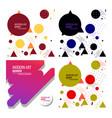 Colorful geometric background fluid shapes