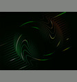 dark green neon abstract digital swirl wave vector image