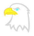 eagle head vector image vector image