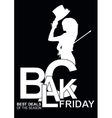 Elegant shopping woman Black Friday vector image
