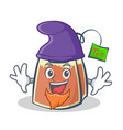 elf tea bag character cartoon vector image vector image