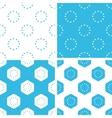 EU emblem patterns set vector image vector image