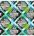 exotic leaves summer funky seamless pattern vector image vector image