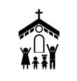 family and church vector image vector image