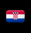 flag of croatia matted icon and button vector image vector image