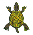funky turtle vector image vector image