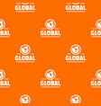 global pattern orange vector image vector image
