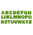green leaf fonts vector image