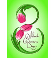 Greeting card with International Womens day 8 vector image