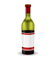 half full bottle of red wine with blank label vector image vector image