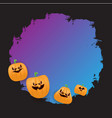 halloween web violet grunge banner or poster with vector image