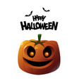 happy halloween cute pumpkin on white background vector image
