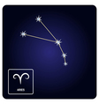 icons with Aries zodiac sign and constellation vector image