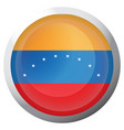 isolated flag of venezuela vector image vector image