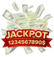 jackpot isolated golden casino treasure vector image vector image