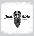 just ride label vector image